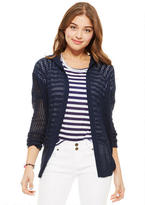 Delia's Hooded Open Stitch Cardigan
