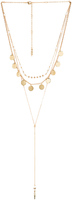 Ettika Layered Beaded Disc lariat Necklace