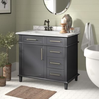 "Birch Lane Newport 36"" Single Bathroom Vanity Heritage Base Finish: Charcoal Gray"