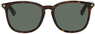 Gucci Tortoiseshell Sqaure Sunglasses