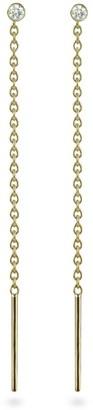 Lena Cohen Fine Jewellery 18K Yellow Gold Diamond Threader Earrings