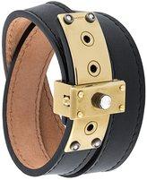 Lanvin stone detail lock bracelet
