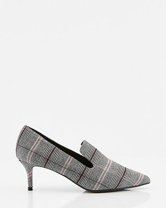 Le Château Check Print Pointy Toe Loafer Pump