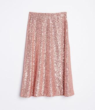 LOFT Petite Sequin Midi Skirt