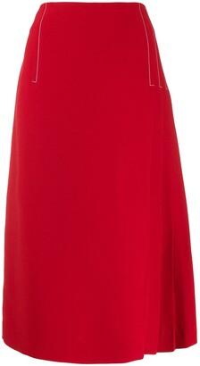 Marni Pleated-Detail Midi Skirt