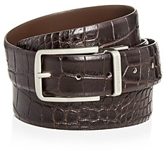 Giorgio Armani Emporio Men's Reversible Croc-Embossed Leather Belt