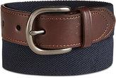 Nautica Boys' Leather & Web Belt