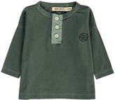 Bobo Choses Organic Cotton How to Disappear Henley Neck T-Shirt