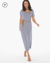 Chico's Striped Tee Midi Dress