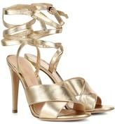 Gianvito Rossi Crissy Metallic Leather Sandals