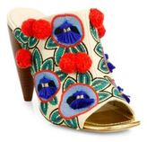 Tory Burch Ellis Embroidered Leather Mules