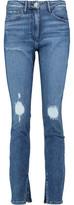 3x1 Distressed Mid-Rise Skinny Jeans