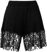 MM6 MAISON MARGIELA lace trim shorts - women - Cotton/Polyamide/Viscose - M