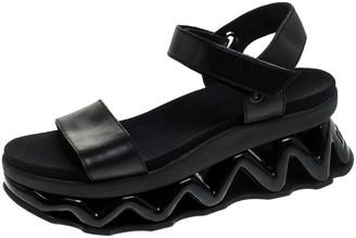 Marc Jacobs Marc by Black Leather Zigzag Platform Ankle Strap Sandals Size 38