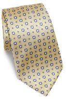 Armani Collezioni Medallion Textured Silk Tie