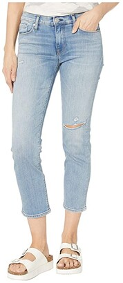 Hudson Jeans Nico Straight Mid-Rise Crop Straight with Deconstruction in Recover (Recover) Women's Jeans