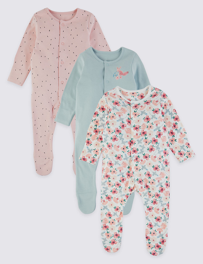59a8e126f802f Sleepsuits With Scratch Mitts - ShopStyle Australia