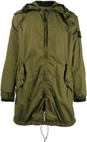 Stone Island gathered hooded coat - men - Polyurethane Resin/Polyimide - S