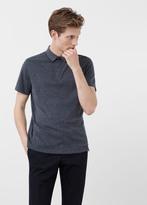 MANGO MAN Cotton Piqué Polo Shirt