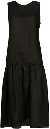 Joseph Dropped-Waist Sleeveless Midi Dress