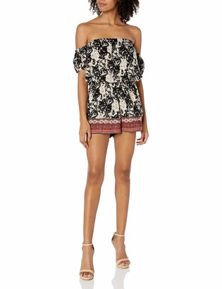 Angie Women's Printed Off The Shoulder Romper