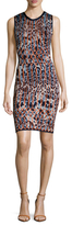 Herve Leger Scoopback Intarsia Sheath Dress