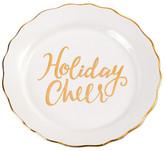 Mud Pie White Holiday Cheer Plate