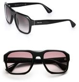 Prada 55MM Square Acetate Sunglasses