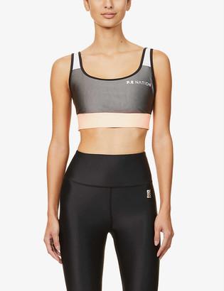 P.E Nation Side Runner stretch-jersey sports bra