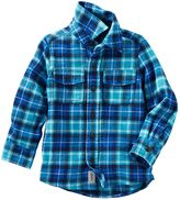Osh Kosh Boys 4-7x Flannel Plaid Button-Down Shirt