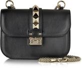 Valentino Black Leather Small Chain Crossbody Bag