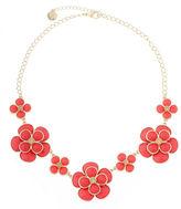 Liz Claiborne Orange and Gold-Tone Collar Necklace