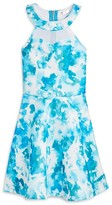Sally Miller Girls' Abstract Print Halter Dress - Big Kid