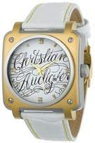 Christian Audigier Wild Twins Watch with White Leather Strap For-204