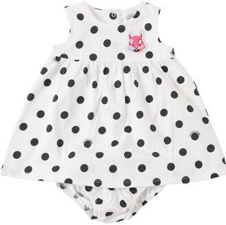 Little Marc Jacobs Dots Print Jersey Dress & Diaper Cover
