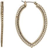 Lucky Brand Gold Openwork Hoop Earrings