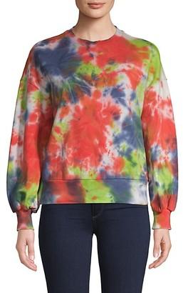 Central Park West Tie-Dyed Cotton Sweatshirt