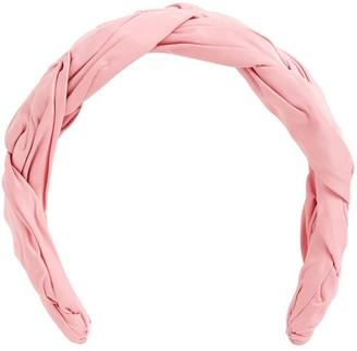 Red(V) Braided Taffeta Headband
