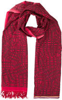 Paul Smith Fringe-Trimmed Printed Scarf