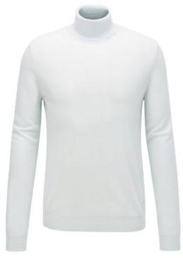 HUGO BOSS Turtleneck Sweater In Lightweight Italian Cashmere - Light Green