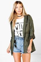 Boohoo Lola Zip Through Festival Mac