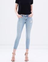 J Brand Low Crop Skinny Jeans