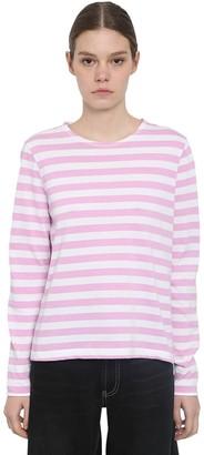 Ganni Striped Jersey T-shirt