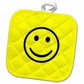 3dRose BrooklynMeme Sayings - Smiley face - 8x8 Potholder (phl_224162_1)