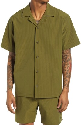 Saturdays NYC Canty Short Sleeve Seersucker Button-Up Shirt