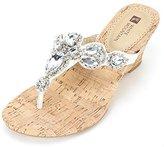 White Mountain 'ABRA' Women's Sandal, White Leather, Size 7.0
