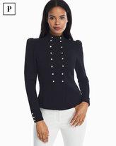 White House Black Market Petite Double Breasted Sweater Jacket