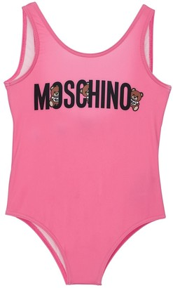 Moschino Logo Print One Piece Swimsuit