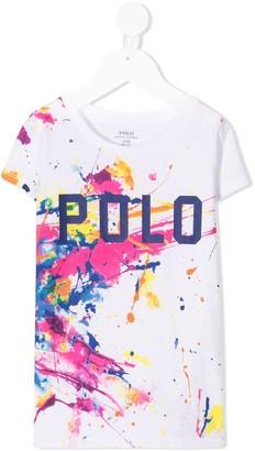 Ralph Lauren Kids paint splatter T-shirt