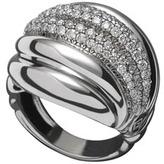 David Yurman Pave Diamond Sculpted Cable Ring
